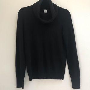 J. Crew Black Cowl Neck Cashmere Angora Sweater